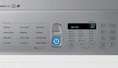 Samsung DV50K8600 Dryer Dry Cycle Settings