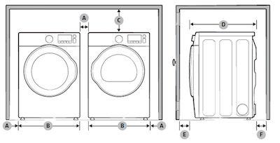 Samsung WF45K6200 Side by Side Installation