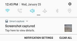 Samsung Galaxy S7 and S7 edge Taking Screenshots