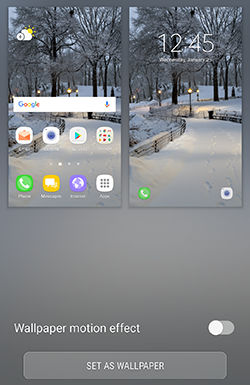 Samsung Galaxy S7 and S7 edge Changing the Home Screen and Lock Screen