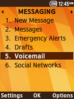 Samsung Convoy 4 Voicemail Access