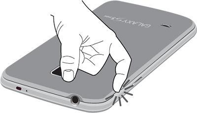Galaxy S5 Mini_Open back cover