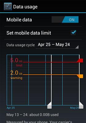 Monitor Data Usage