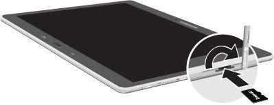 Galaxy Note Pro 12.2_Insert microSD card