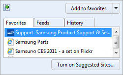 Samsung Apps Panel Import Bookmarks to the Web Browser