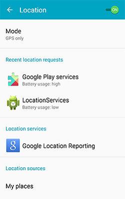 Samsung Galaxy J1 Locating Method
