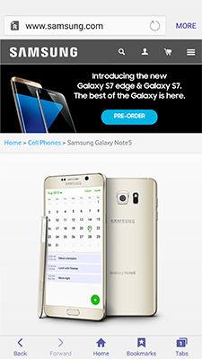 Samsung app is pinned