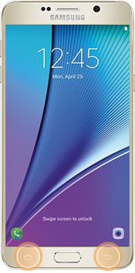 Samsung touch and hold recent and back