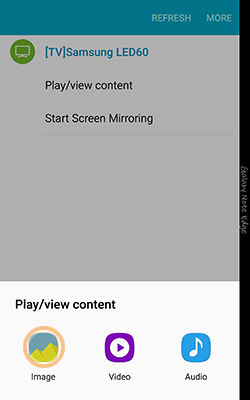 Samsung Using Quick connect to connect nearby devices