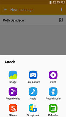 Samsung use Text massage app