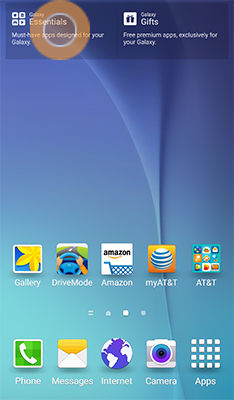 Samsung Galaxy S6 Active Essentials Access Recommended Applications