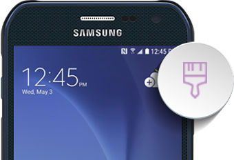 Samsung Galaxy S6 Active Home Screen and Lock Screen
