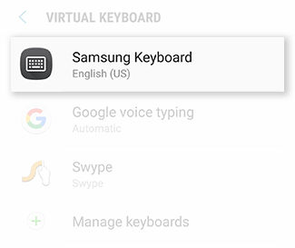 Samsung Galaxy S6 Active Language and Keyboard