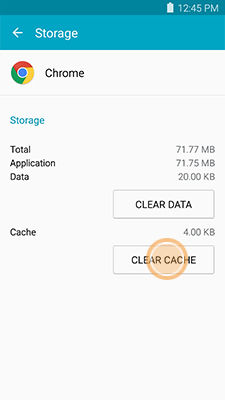 Samsung Galaxy Note4 Clearing the App Data and Cache