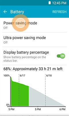 Samsung Galaxy S6 Active Configure Power Saving Modes