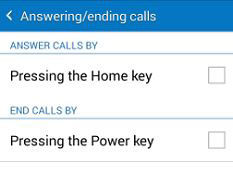 Samsung Galaxy Grand Prime Answering Call Options