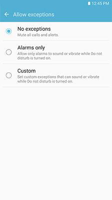 Samsung Galaxy Note5 Do Not Disturb