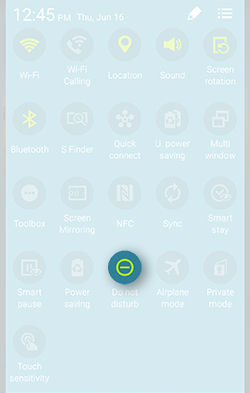 Samsung Galaxy S5 Active Do Not Disturb