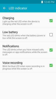 Samsung Galaxy S5 Sport Changing the LED Settings