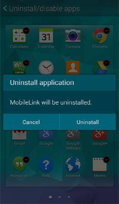 Samsung Galaxy S5 Uninstall Disable Hide Applications