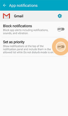 Samsung Galaxy S6 Active Change the Application Notifications