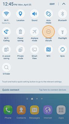 Samsung Galaxy S6 Edge+ Plus Do Not Disturb