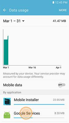 Samsung touch an application