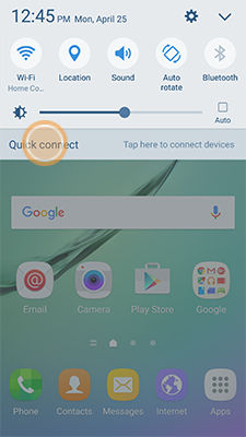 Samsung GalaxyS6 Open Quick Connect