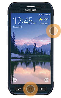 Samsung Galaxy S6 Active Take Screenshot