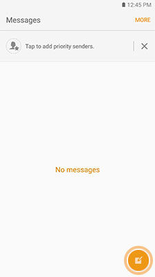 Samsung Galaxy S6 Create Message