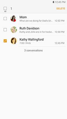 Samsung Galaxy S6 Delete Message Threads
