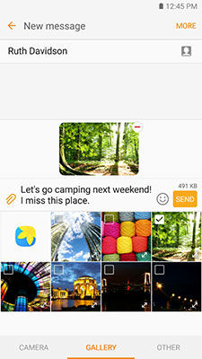 Samsung Galaxy S6 Message Attach Image