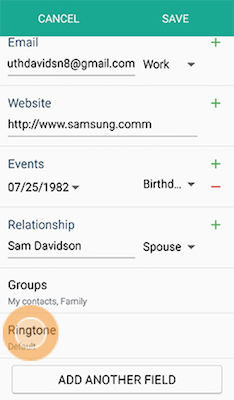 Samsung Galaxy Alpha Assign Personal Ringtone Vibration Pattern Contact