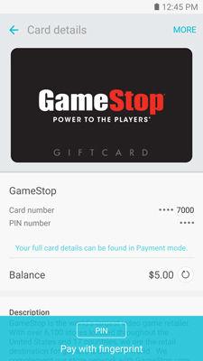 Samsung Pay Refresh My Balance