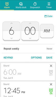 Samsung Turn On/Off Alarm