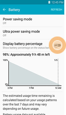 Samsung Galaxy J3 Monitor Extend Battery Life