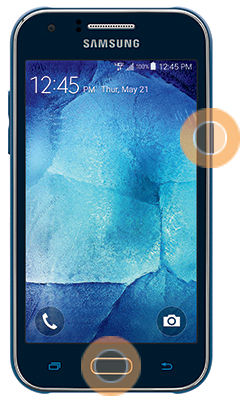 Samsung Galaxy J1 Capture Screenshot