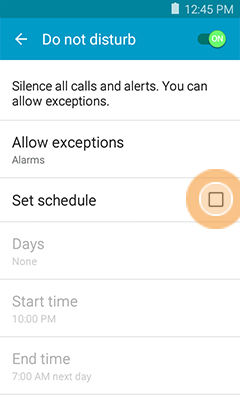 Samsung Galaxy Core Prime Do Not Disturb