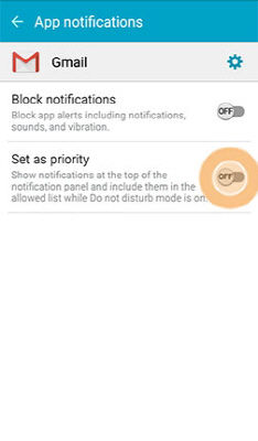 Samsung Grand Prime Change the Application Notifications