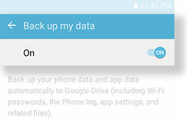 Back up my data_On
