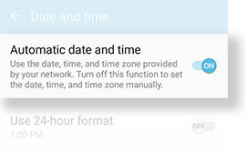 Automatic date and time_On