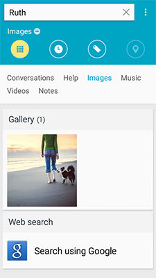 Samsung Galaxy Mega 2 S Finder Search Content