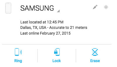 Samsung Galaxy E5 Delete All of My Personal Information