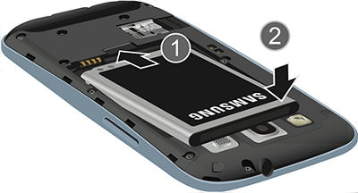 Samsung insert the battery