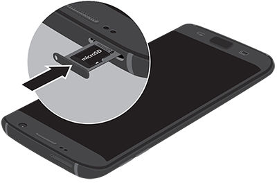 Samsung S7Edge Insert microSD Card