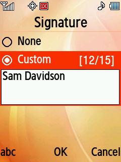 Samsung Convoy4 Support Adding Signatures
