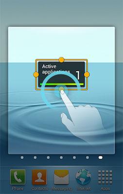 Samsung Exhibit Add Widget Home Screen