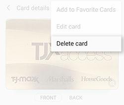 Samsung Pay Removing  A Membership Card