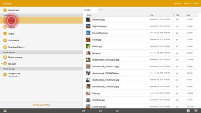Samsung Galaxy View Access Files