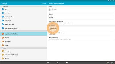 Samsung Galaxy View Do Not Disturb Feature